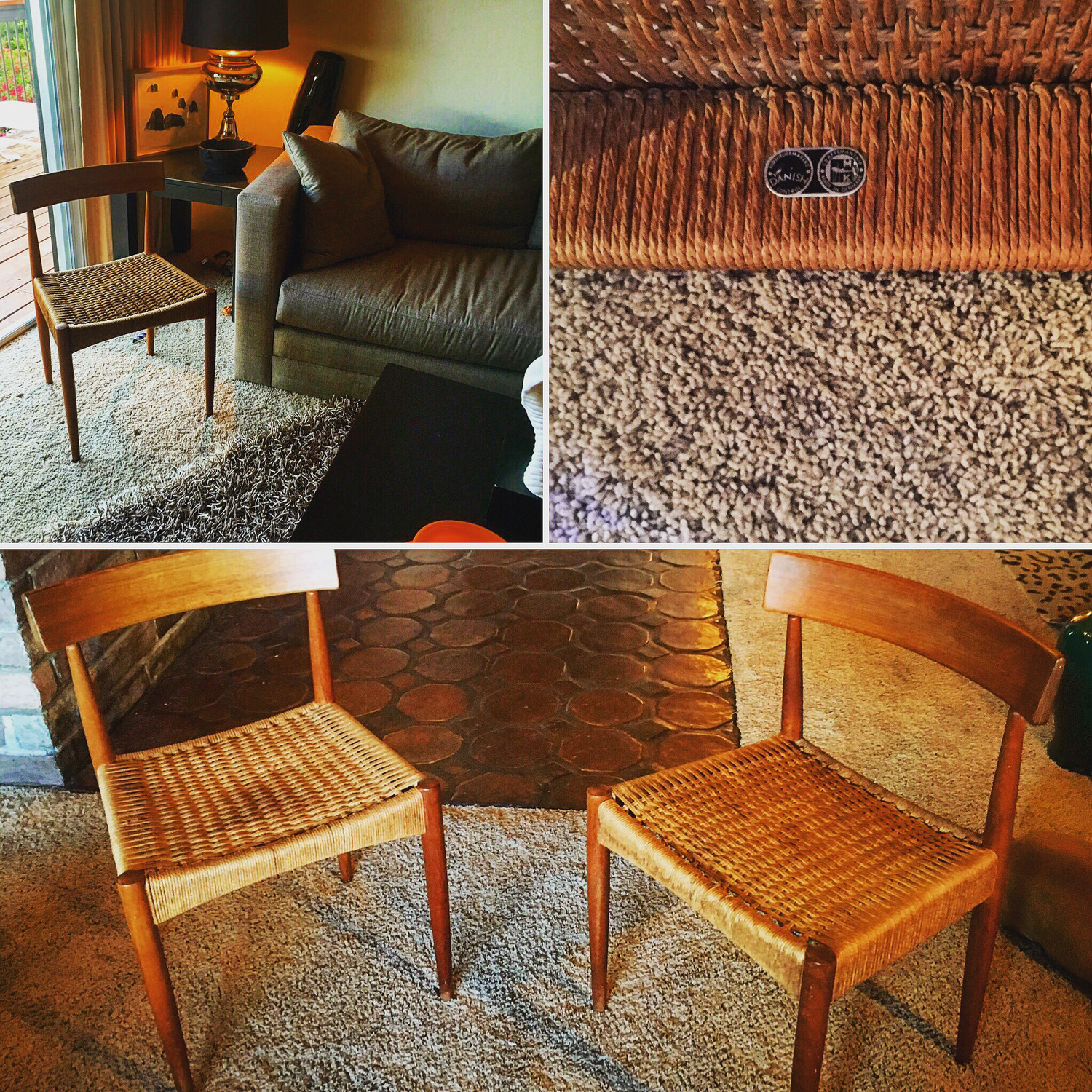Pair of Vintage Morgen-Kohl Danish Chairs