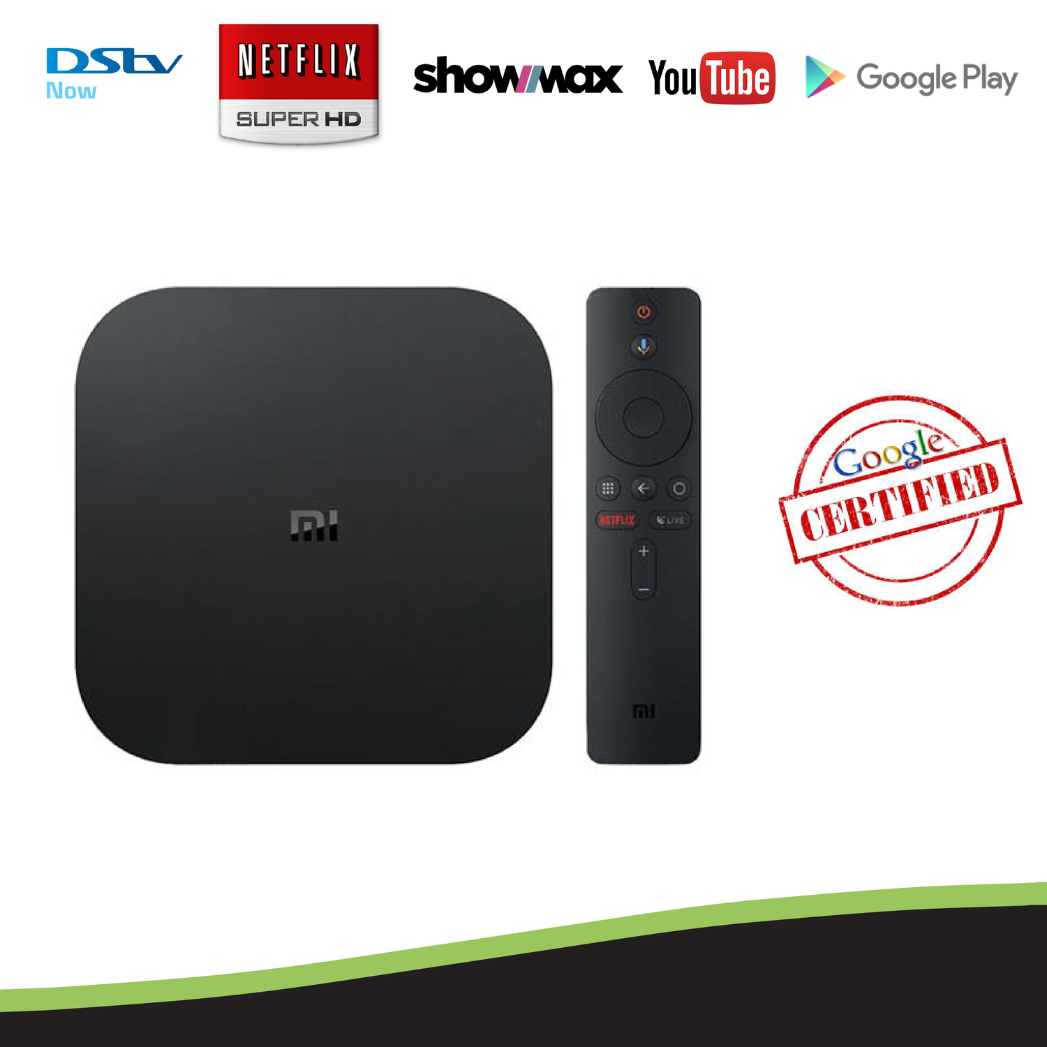 Xiaomi Mi S Google Certified 4K Android TV OS Media Streaming TV Box