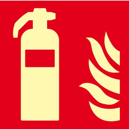 Feuerlöscher Flachschild, Alu