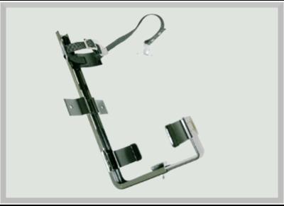 Universal Fahrzeughalter für Handfeuerlöscher von 6 bi12 kg, schwarz Pulverbeschichtet