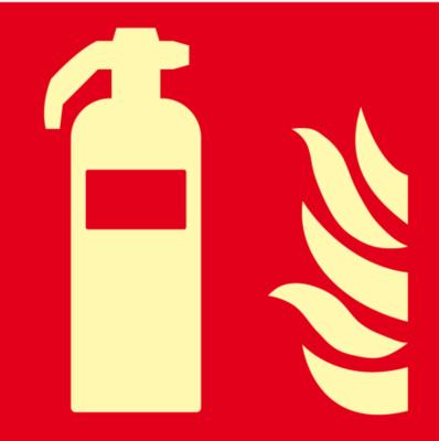 Feuerlöscher, Folie selbstklebend