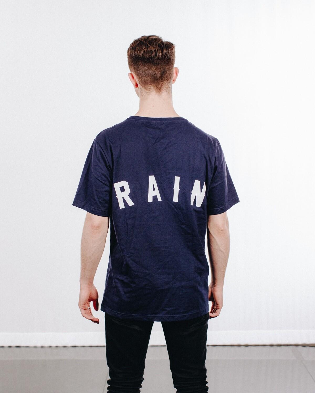 """""""RAIN"""" Navy Tee"""