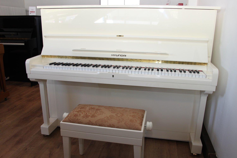 Klavier Hyundai, Mod. U 835, weiss hochglanz