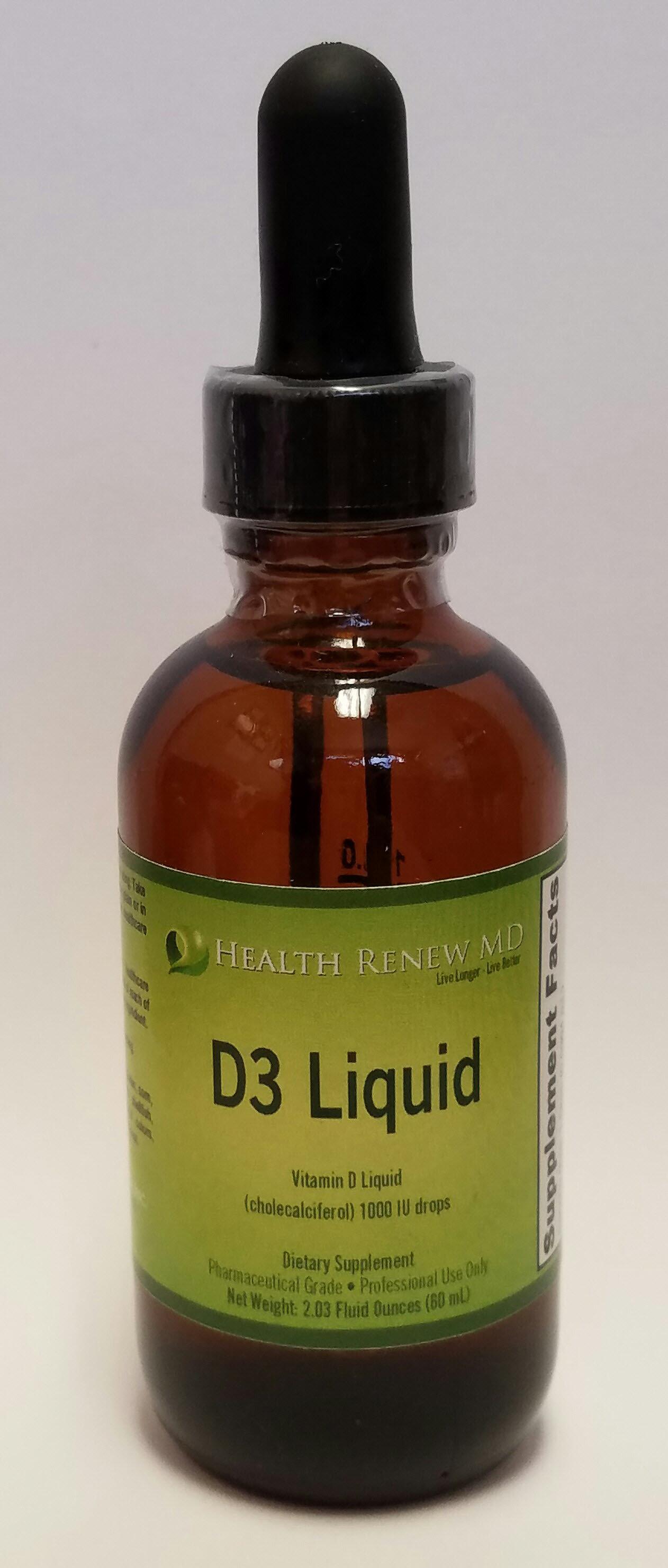 Vitamin D3 - Liquid drops or capsules 00012