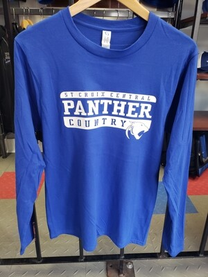 Port & Company Long Sleeve Royal Panther County