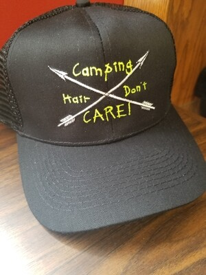 Camping Hair Don't Care Mesh Adjustable Hat