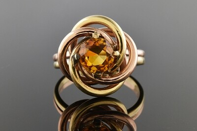 Retro Ring With Citrine