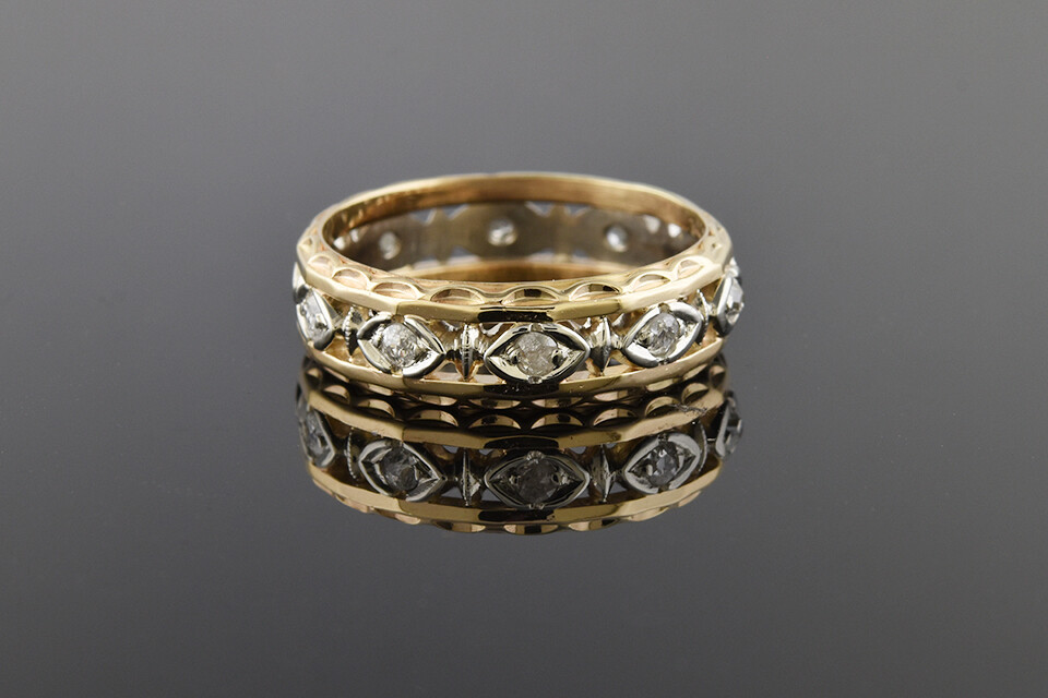 Two-tone Eternity Band