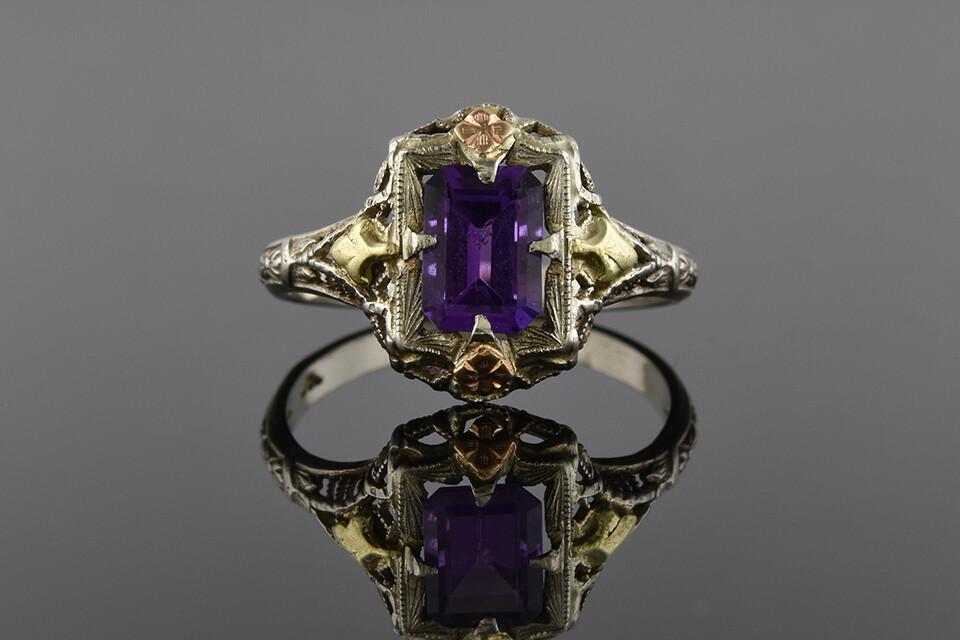 Filigree Amethyst Ring