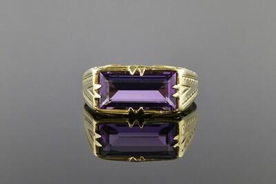 Baguette Amethyst Ring