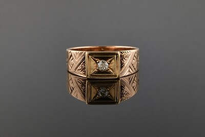 Rose Gold Unisex Band Ring