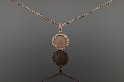 Rose Gold Mother Of Pearl Pendant