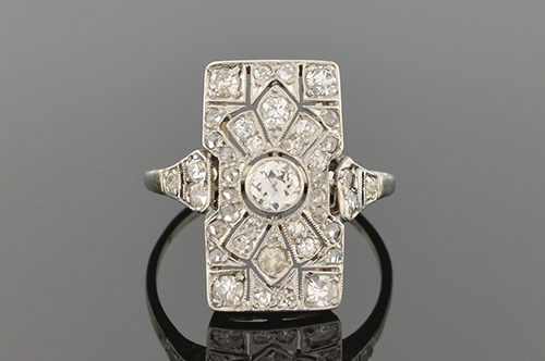 Item #5175 Bold Art Deco Diamond Ring 5175