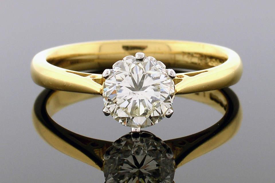 Item #4684 English Solitaire Engagement Ring 4684