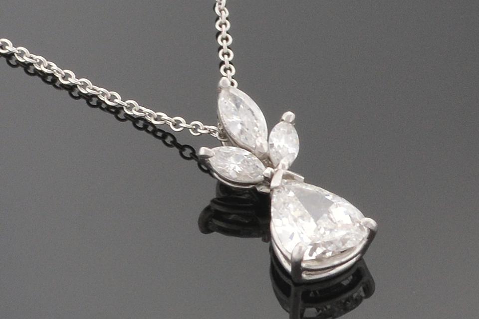 Item #5320 Pear and Marquis Diamond Pendant 5320