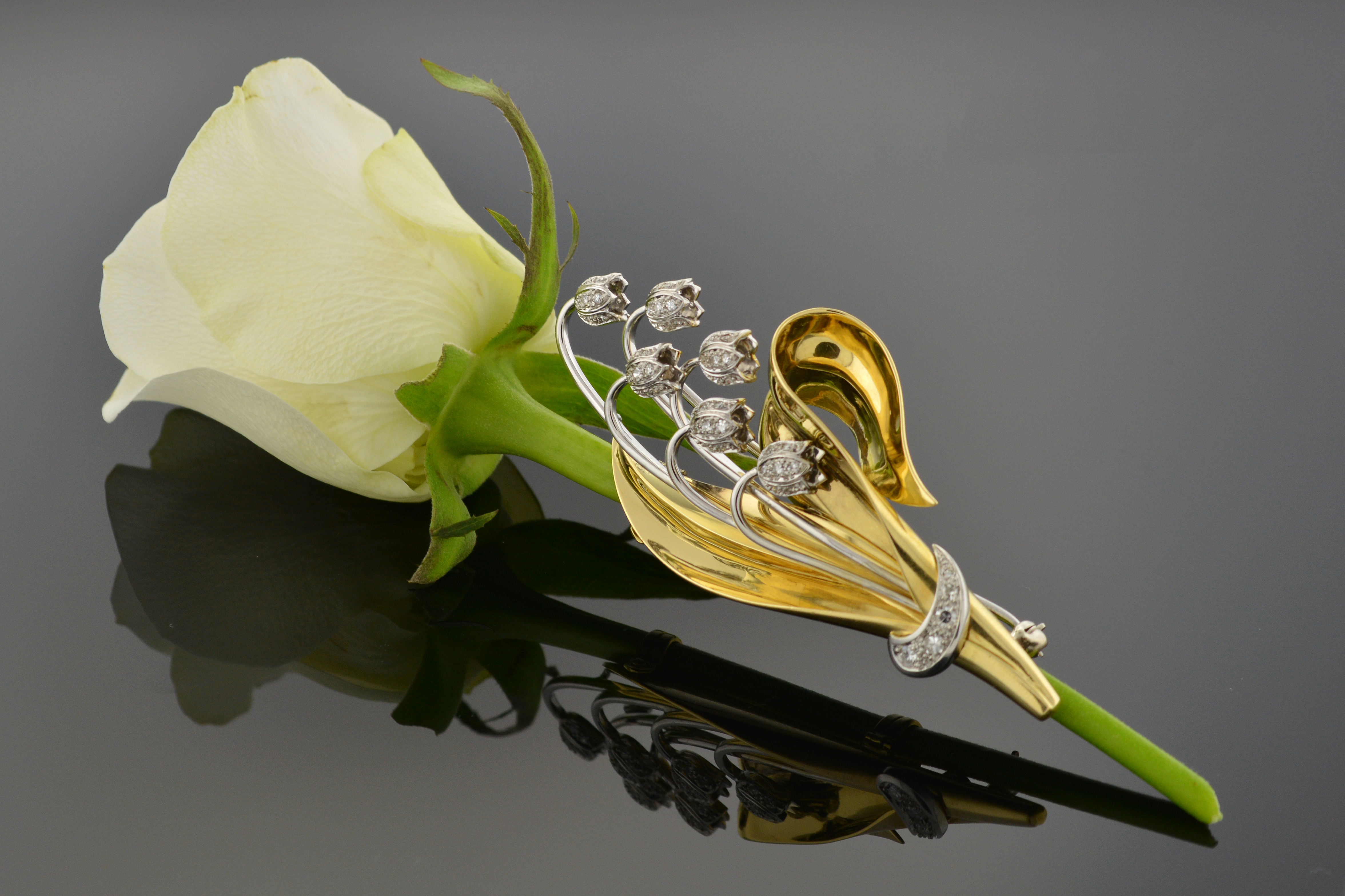 Item #4619 Vintage Boutonniere Brooch 4619