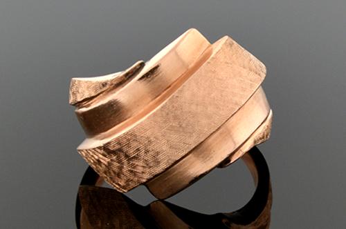 Item #SB131 Tilt Design Rose Gold Retro Ring SB131