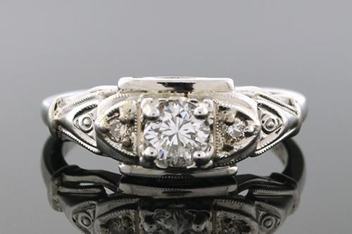 Item #1085 Lovely Mid Century Diamond Ring