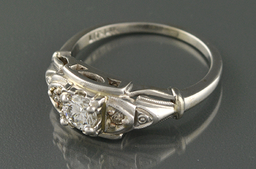 Item #1085 Lovely Mid Century Diamond Ring