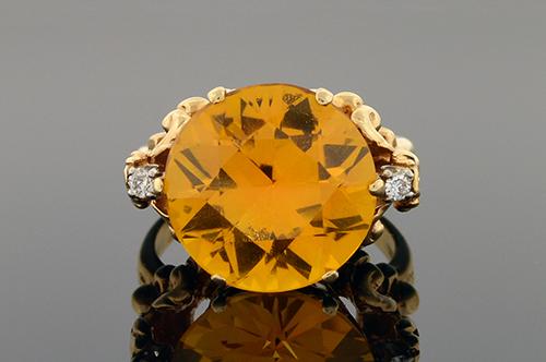 Item #1573 Victorian Citrine Ring 1573