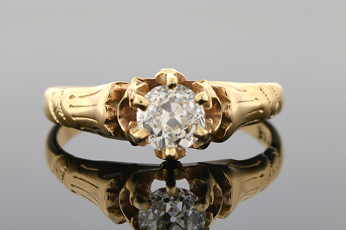 Item #4814 Victorian Diamond Engagement Ring 4814
