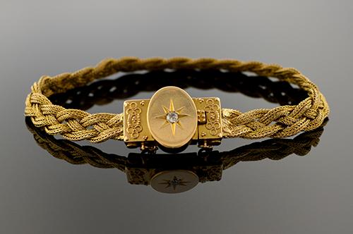 Item #1295 Victorian Woven Bracelet 1295