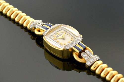 Item #1008 Ladies Hamilton Sapphire and Diamond Watch 1008