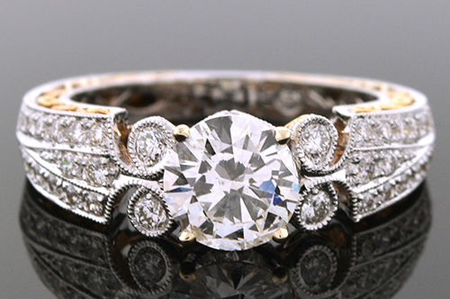 Item #4184 Engagement Ring With Amazing Details 4184