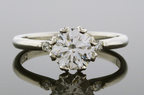 Item #4212 Platinum Tacori Diamond Engagement Ring 4212
