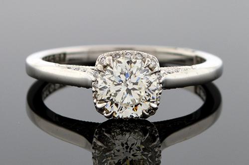 Item #4749 Octagonal Cut Diamond Engagement Ring 4749
