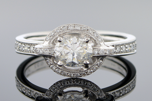 Item #5372 East West Set Oval Diamond Ring 5372