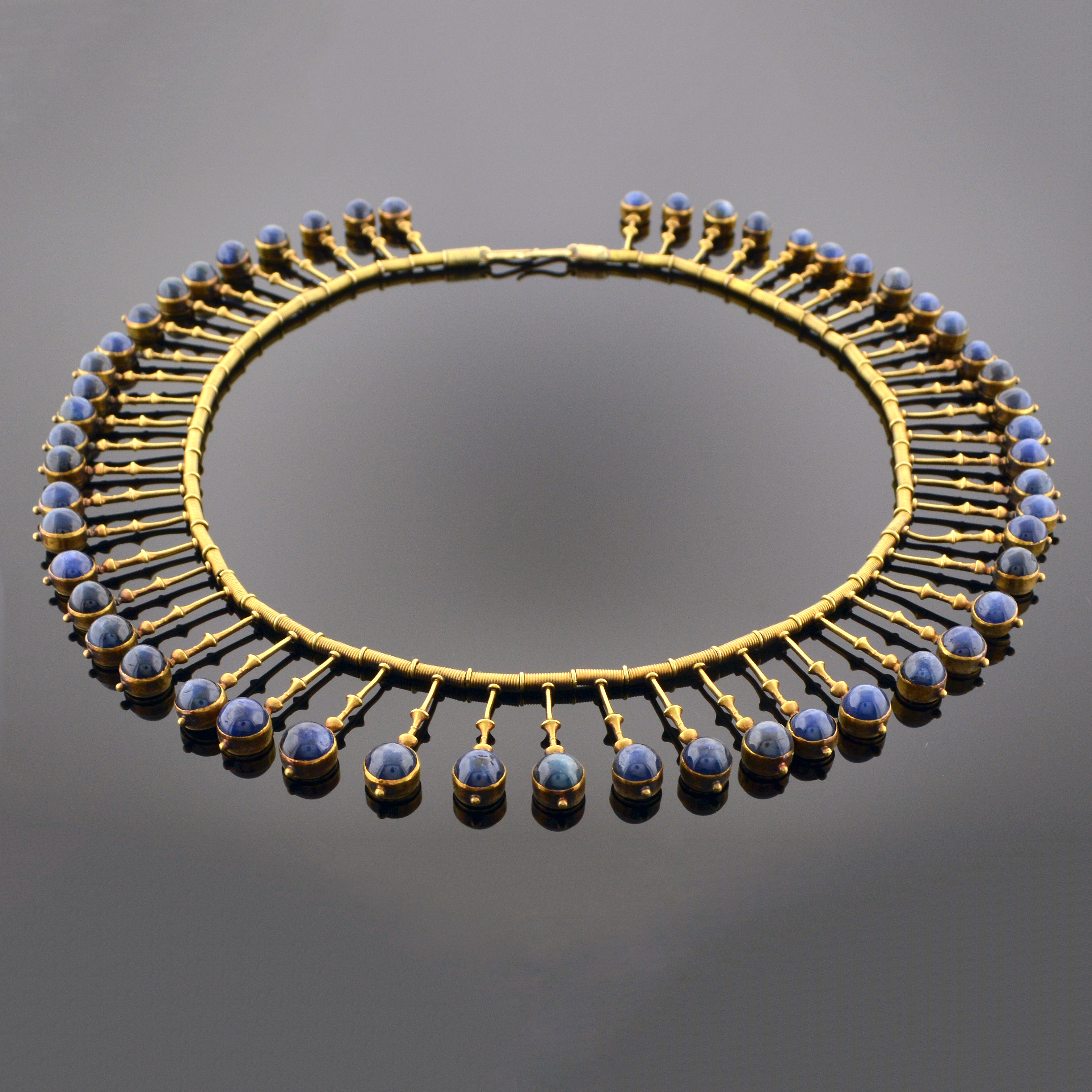 Important Gold and Sapphire Fringe Necklace 5583