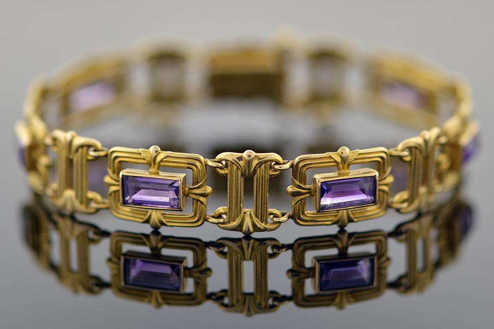 Item #1238 Victorian Amethyst Bracelet