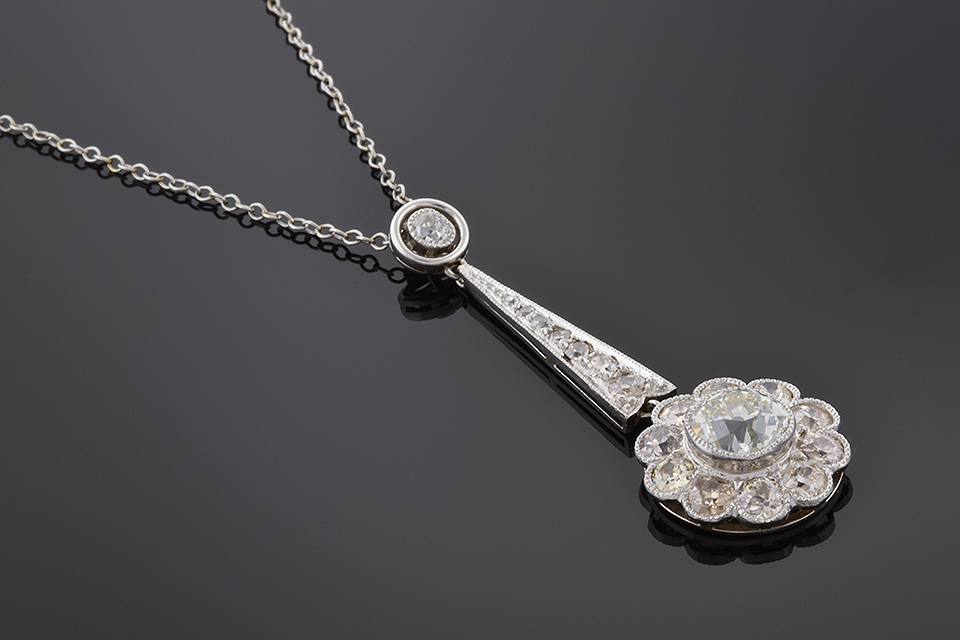 Item #5404 Late Edwardian Diamond Necklace 5404