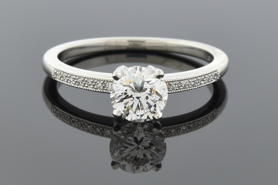 Item #5948 Lucie Campbell Classic Diamond Engagement Ring 5948