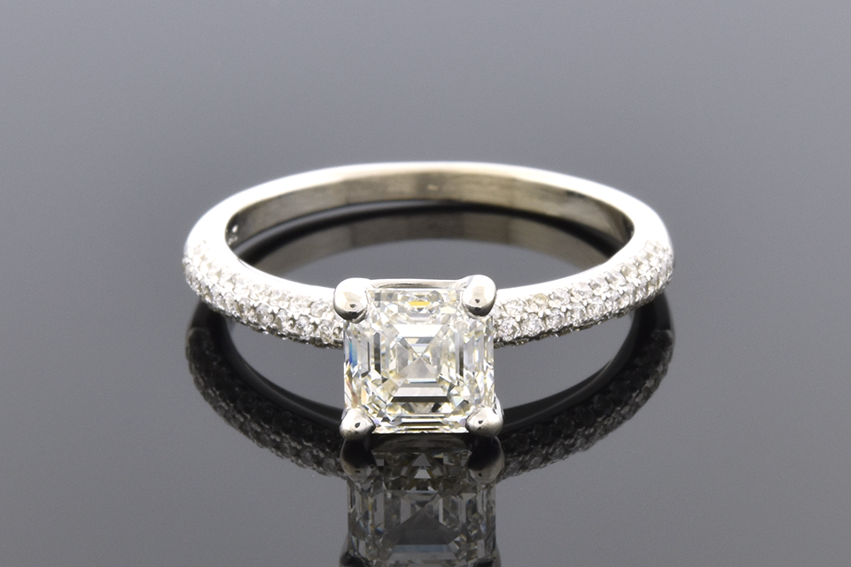 Asscher Cut Diamond Engagement Ring