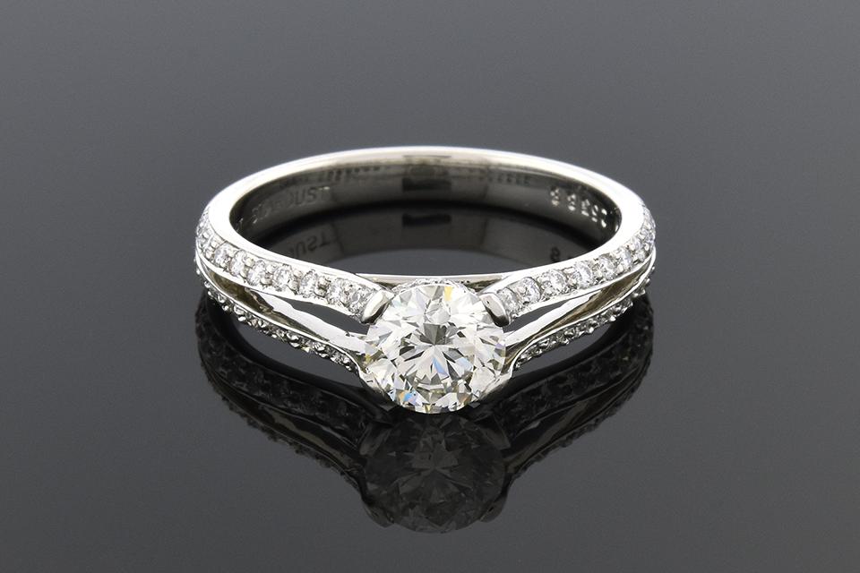 Item #6083 Split Shank Diamond Engagement Ring 6083