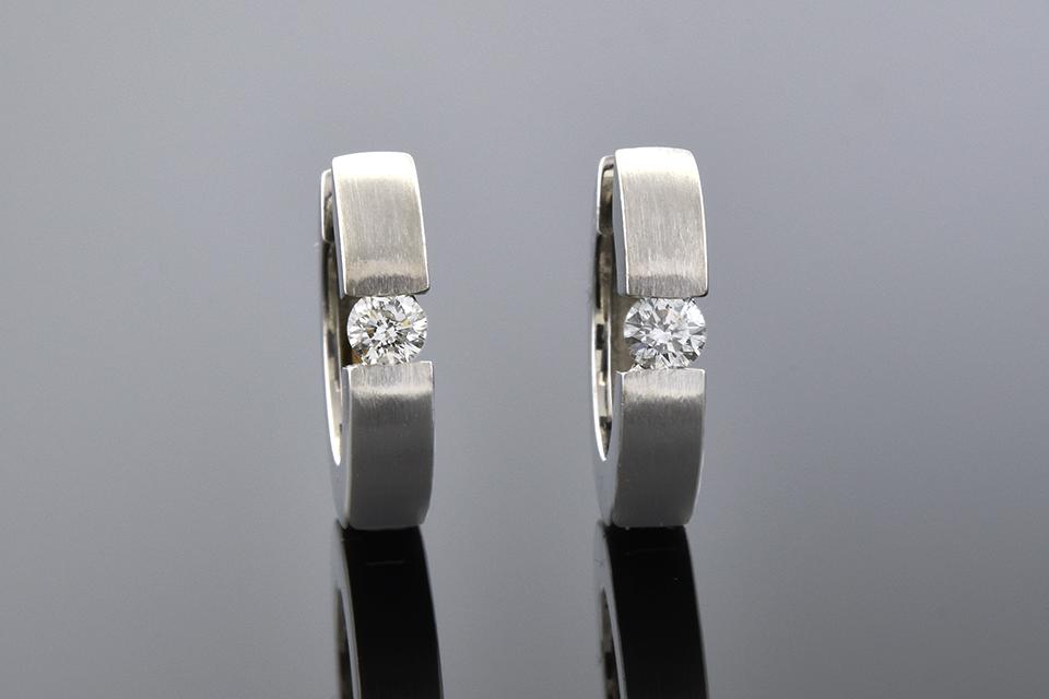 Item #2180 Diamond Huggie Hoop Earrings 2180
