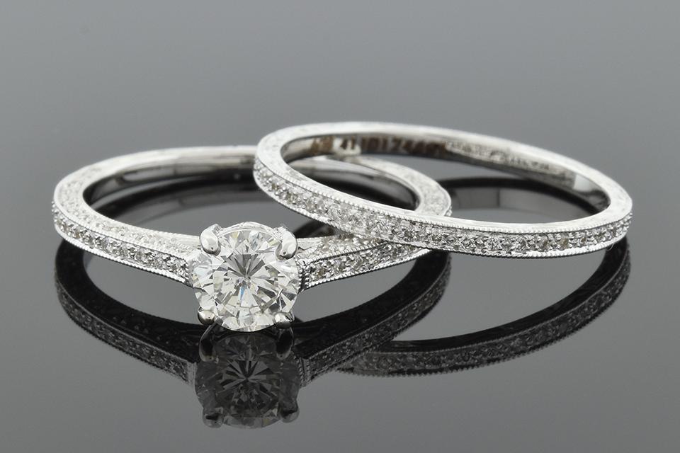 Item #6078 Art Deco Inspired Diamond Bridal Set by Beverley K 6078
