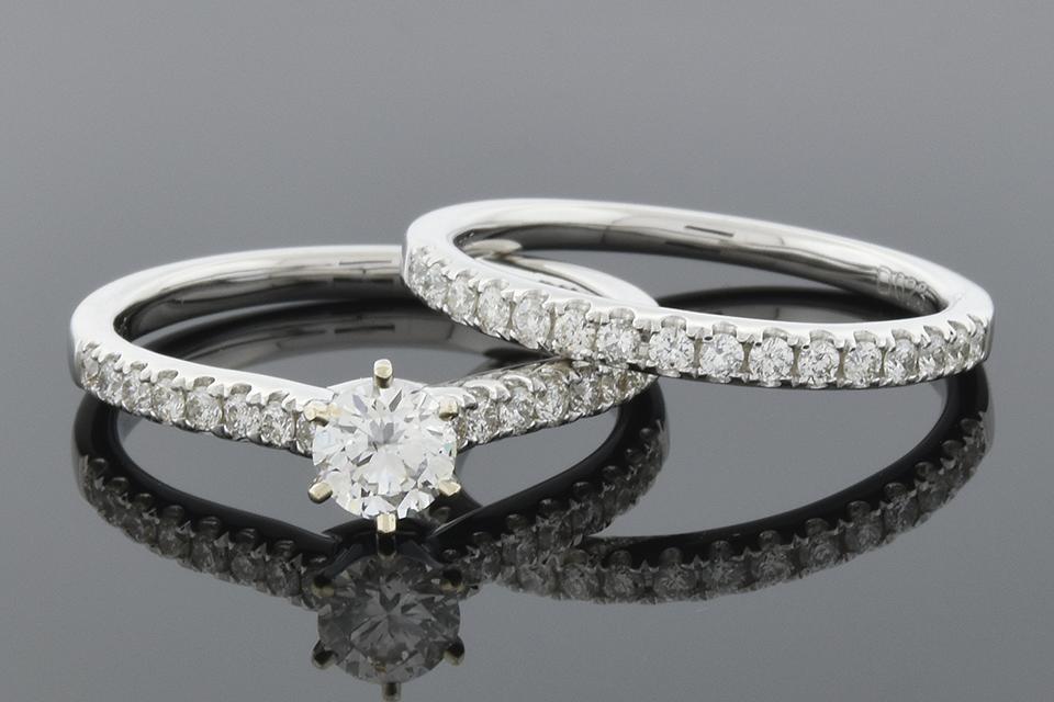 Item #6149 Simple Line Diamond Engagement Ring