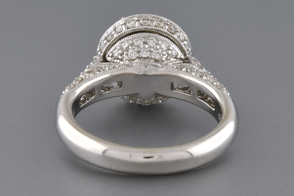 Item #4741 High Set Halo Diamond Engagement Ring