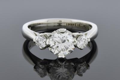 Item #6075 Three Stone Diamond Ring by Tacori