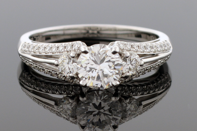Split Shank Engagement Ring by Simon G
