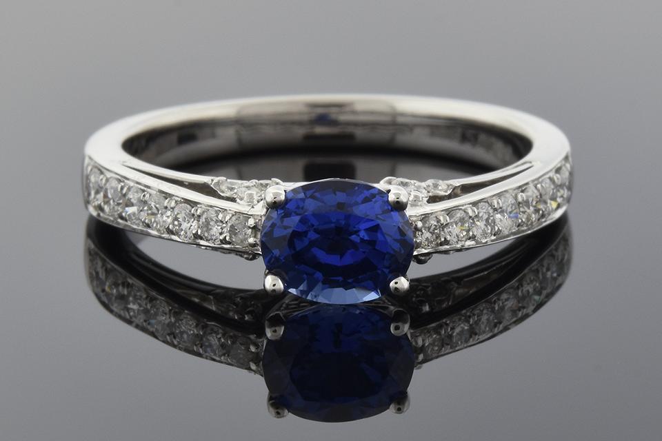 Item #1671 Sapphire and Diamond Ring by Simon G 1671