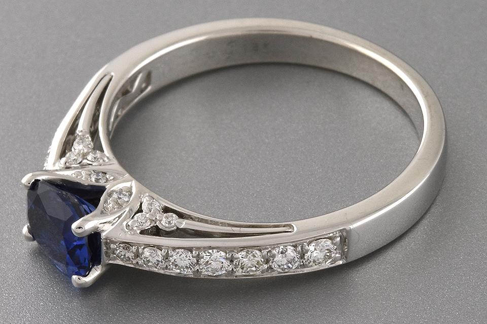 Item #1671 Sapphire and Diamond Ring by Simon G