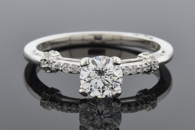Item #6385 Tacori Engagement Ring With a .61 carat Flawless Diamond