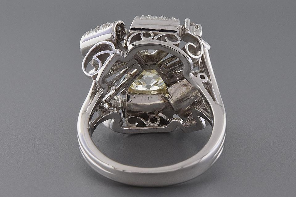 Item #4966 Vintage Free Form Diamond Statement Ring