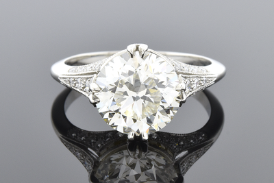 Item #5540 French Made 3.19 Carat Diamond Engagement Ring