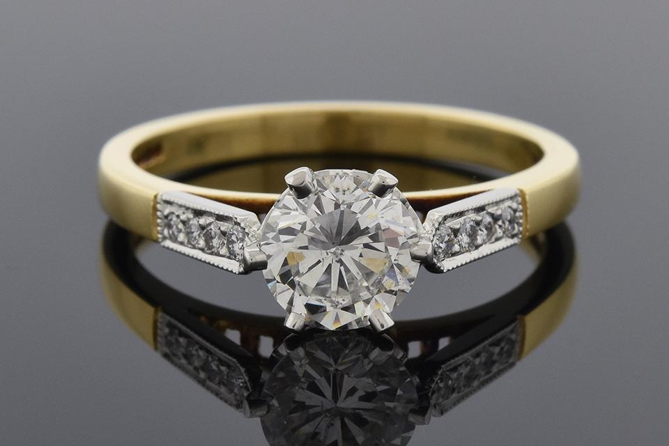 Item #6283 English Made Diamond Engagement Ring 6283