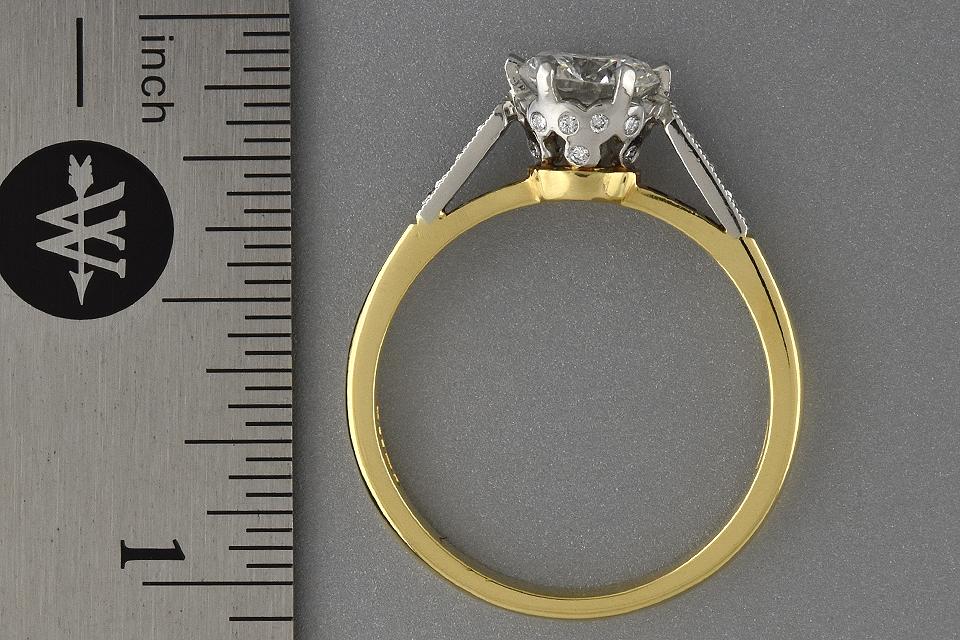 Item #6283 English Made Diamond Engagement Ring